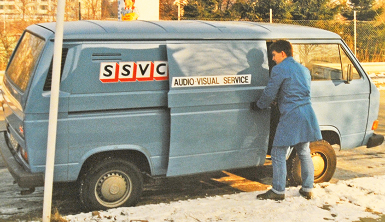 SSVC Audio and Visual van making the rounds in BAOR in the 1980s