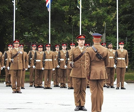 The parade and presentation of LS&GCM marked the start of 26 Regt RA's Big Bash Weekend