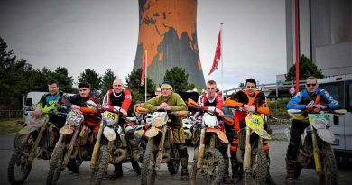 The BA(G) Enduro team at the Meppen Fun Park