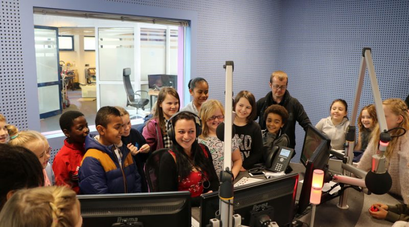 BFBS presenter Milly Luxford chats to Year 5 pupils from Haig School in Gütersloh, live on air