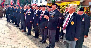 Former members of the 40 Army Engineer Support Group at the Schützenfest parade in Willich