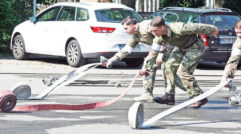 The Defence School of Policing and Guarding, Portsmouth, during a team event