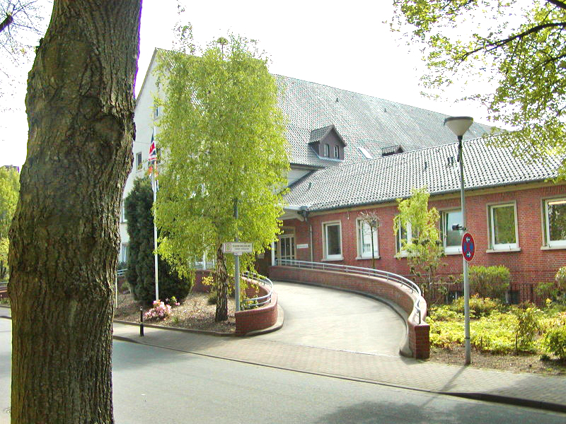 The front entrance of the former BMH Rinteln