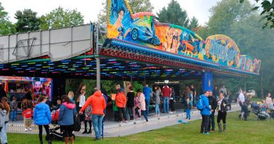 The dodgems proved popular at the fun-packed event
